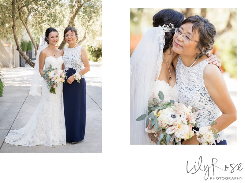 Cornerstone Sonoma Wedding Photography Mom with Bride
