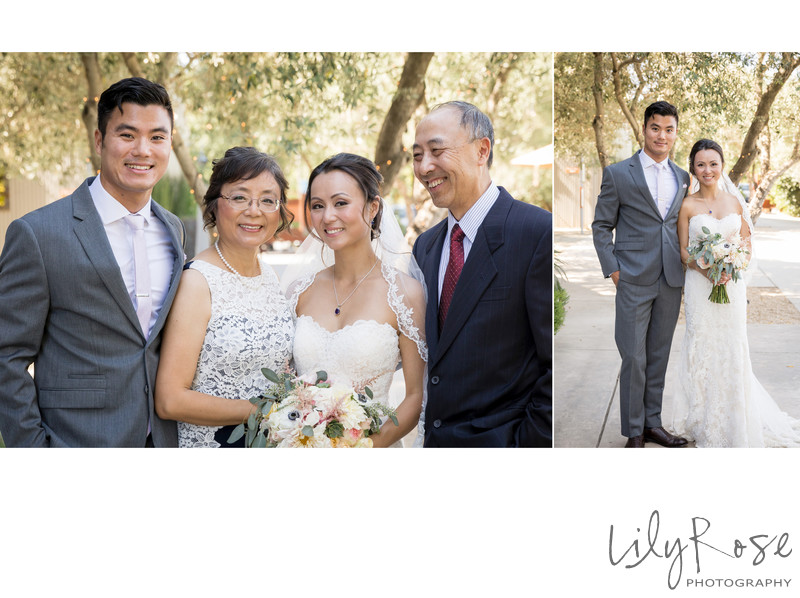 Family Portrait Cornerstone Sonoma Wedding Photographer