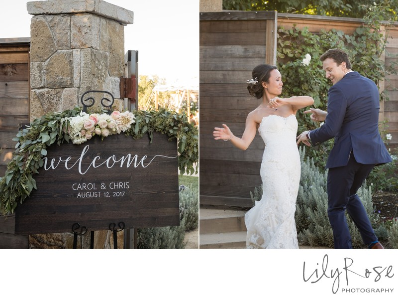 Cornerstone Sonoma Wedding Photographer Entrance