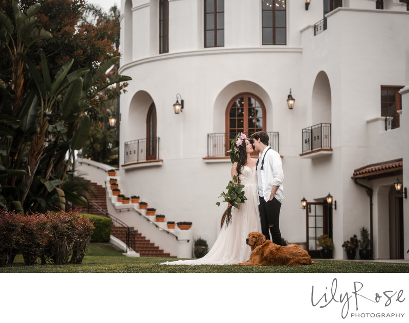 Couple Bacara Santa Barbara Wedding Photographers