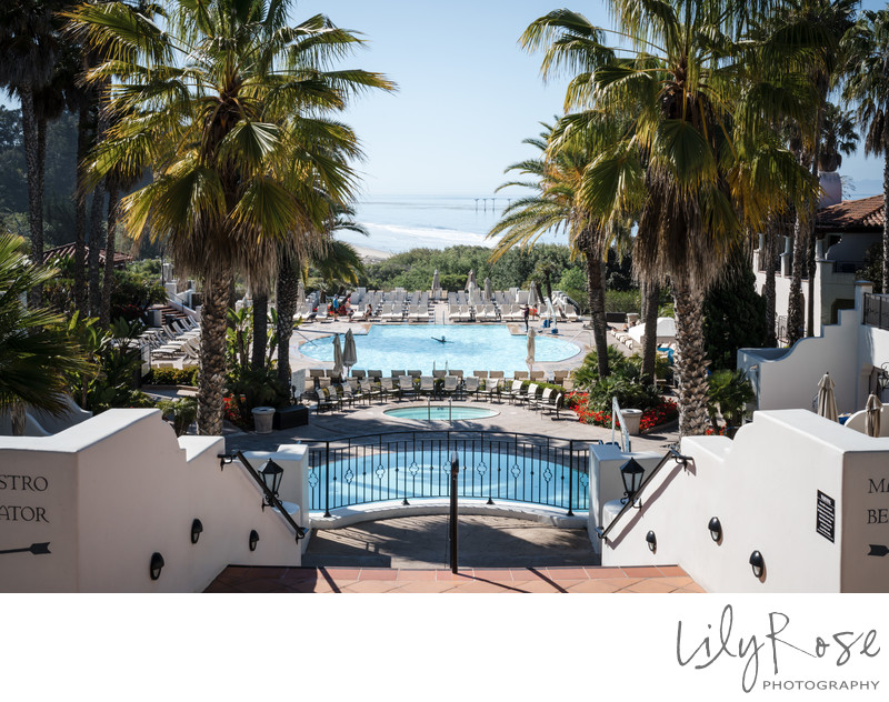 Bacara Resort Pool View Wedding Photographers