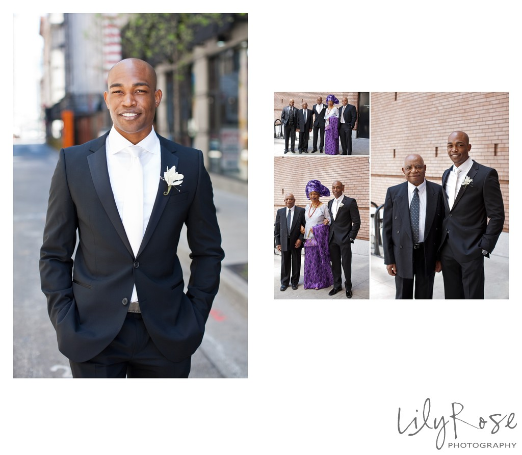 Groom Family Photos in San Francisco St. Regis Hotel