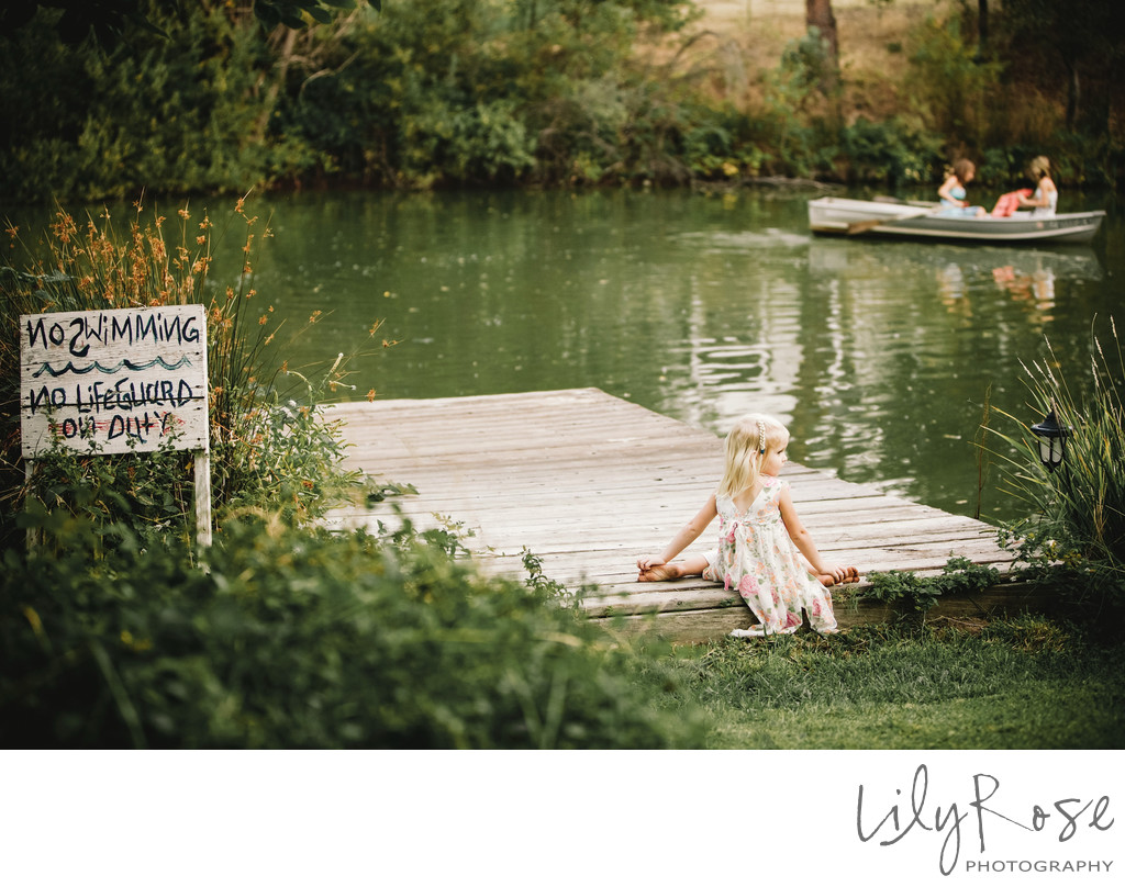 Flower Girl Sonoma Wedding Photographer No Swimming