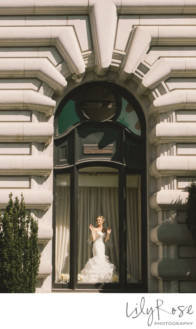 Wedding Photo Fairmont San Francisco in San Francisco
