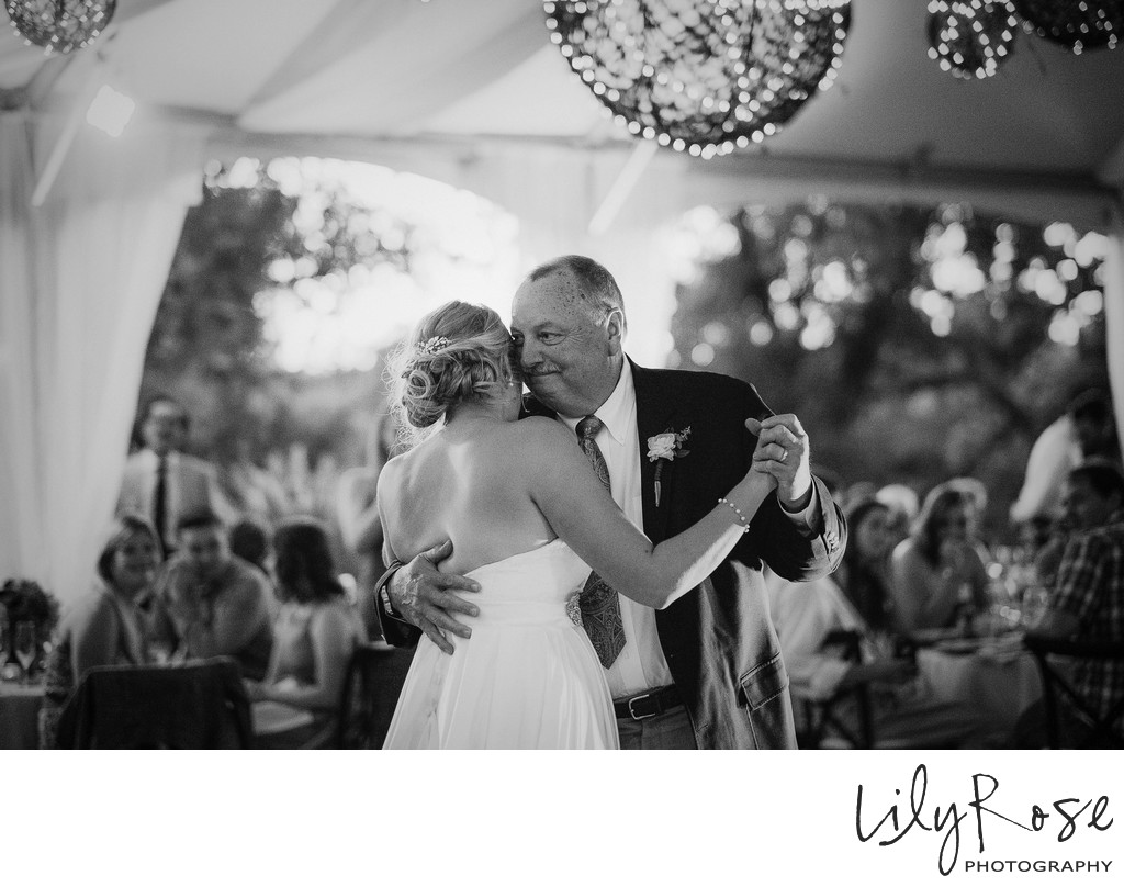 Napa Wedding Father Daughter Dance