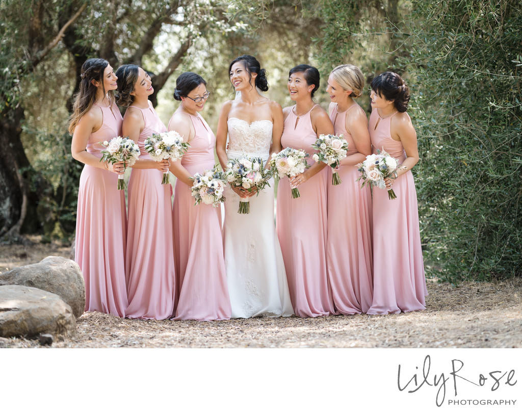 Stunning Bridal Party in Kenwood Kunde Winery