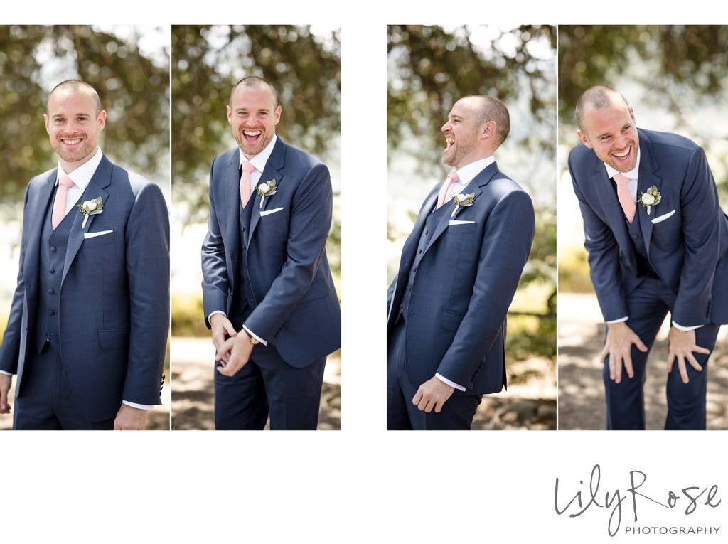 Groom Kunde Winery Sonoma Wedding Photography