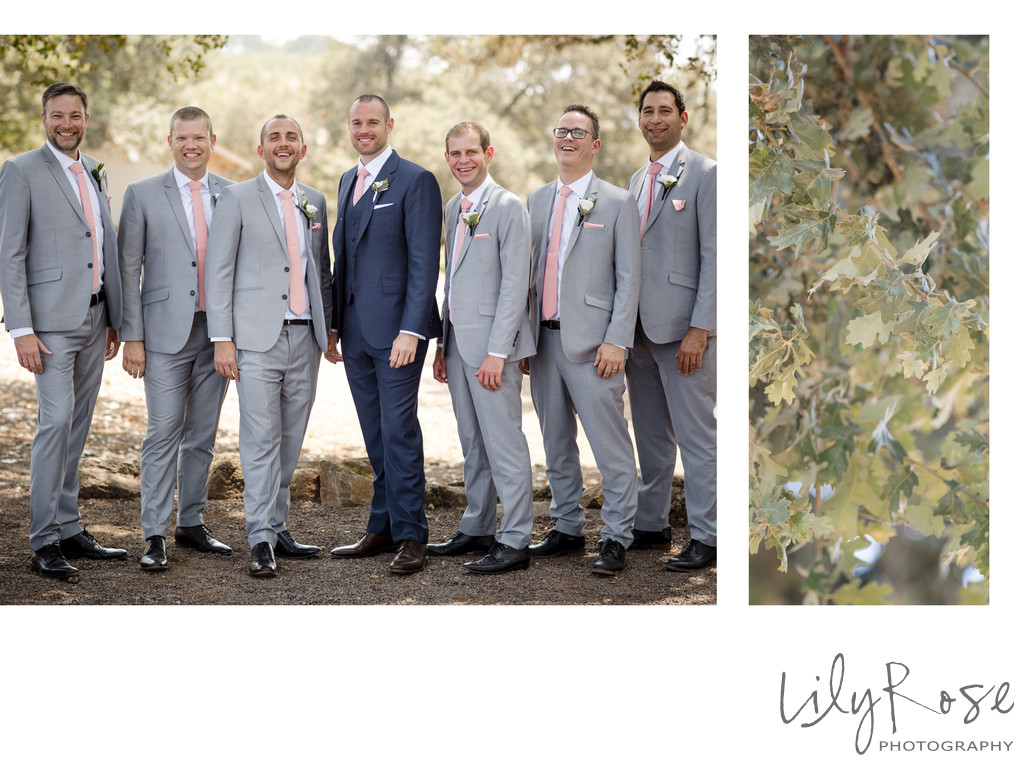 Groomsmen Kunde Winery Sonoma Wedding Photographer