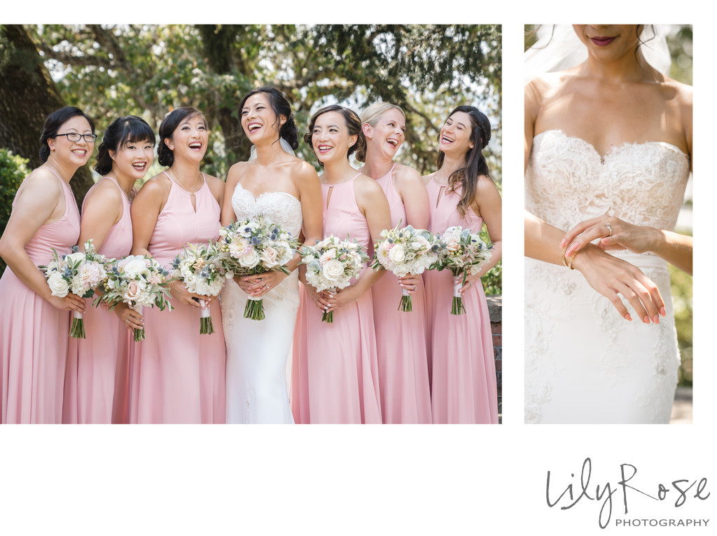 Bridal Party Kunde Winery Sonoma Wedding Photographer