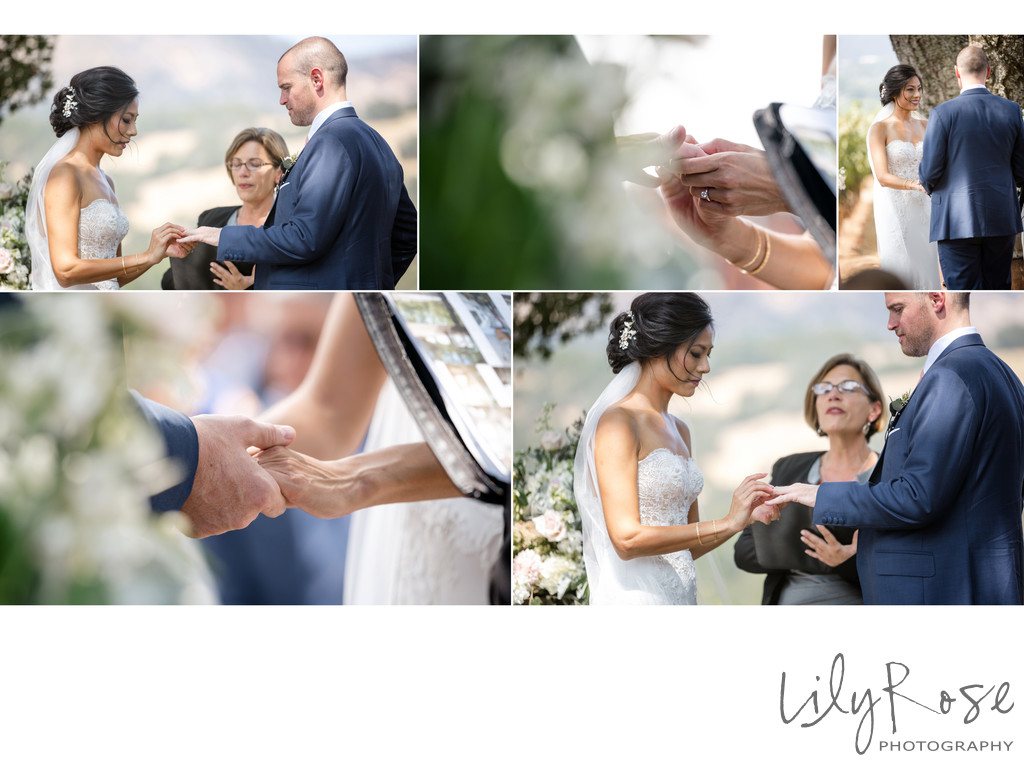 Ceremony Wedding Photographer Kunde Winery Sonoma