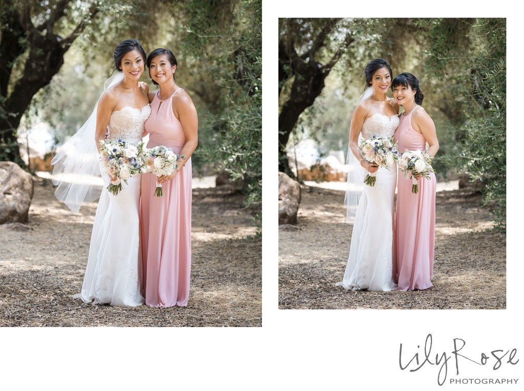 Sonoma Photographers Wedding Kunde Winery Maid of Honor
