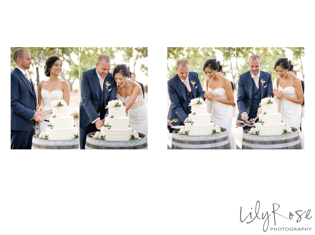 Sonoma Photography Wedding Kunde Winery Cake Cutting