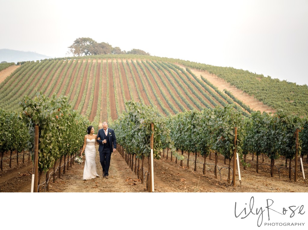 Bride and Groom Sonoma Photography Wedding Kunde Winery