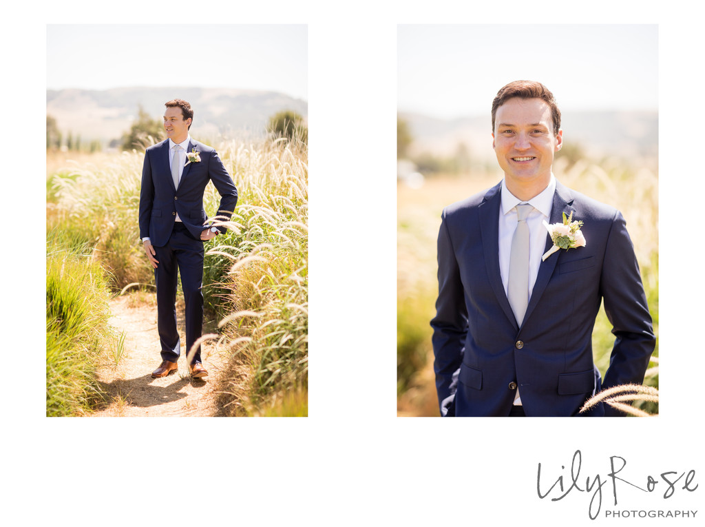 Cornerstone Sonoma Wedding Photographers First Look