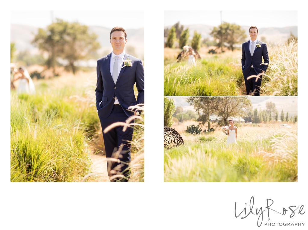 Cornerstone Sonoma Wedding Photography First Look
