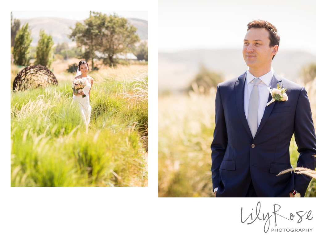 Cornerstone Sonoma Wedding Photographer First Look Wait