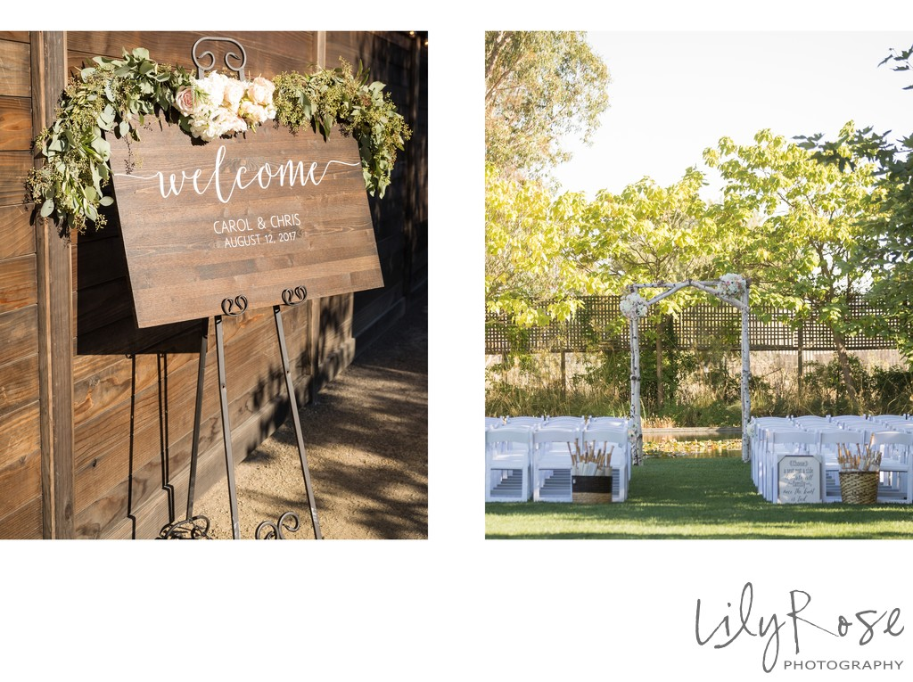 Cornerstone Sonoma Wedding Photographer Ceremony Site