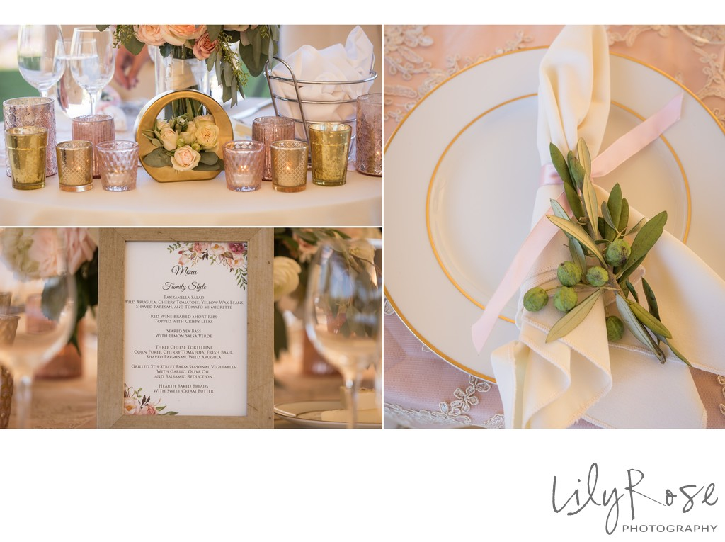 Cornerstone Sonoma Wedding Photographer Table Decor