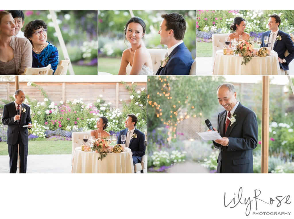 Cornerstone Sonoma Wedding Photographer Father Toast