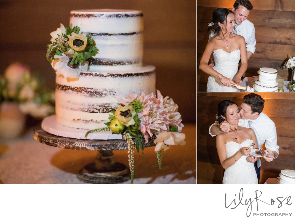 Cornerstone Wedding Sonoma Photographers Cake Cutting