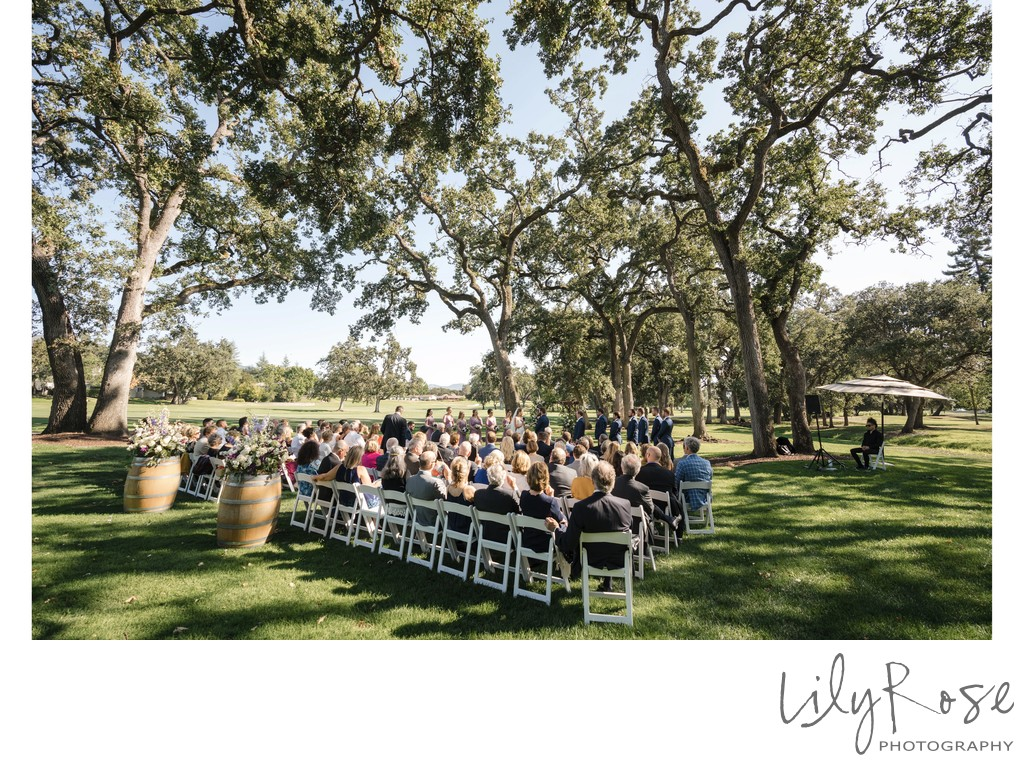 Wedding Ceremony Silverado Resort Photographer Napa CA