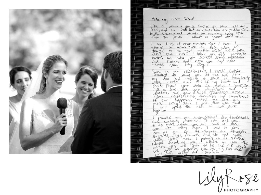 Wedding Vows Silverado Resort Photographer Napa CA