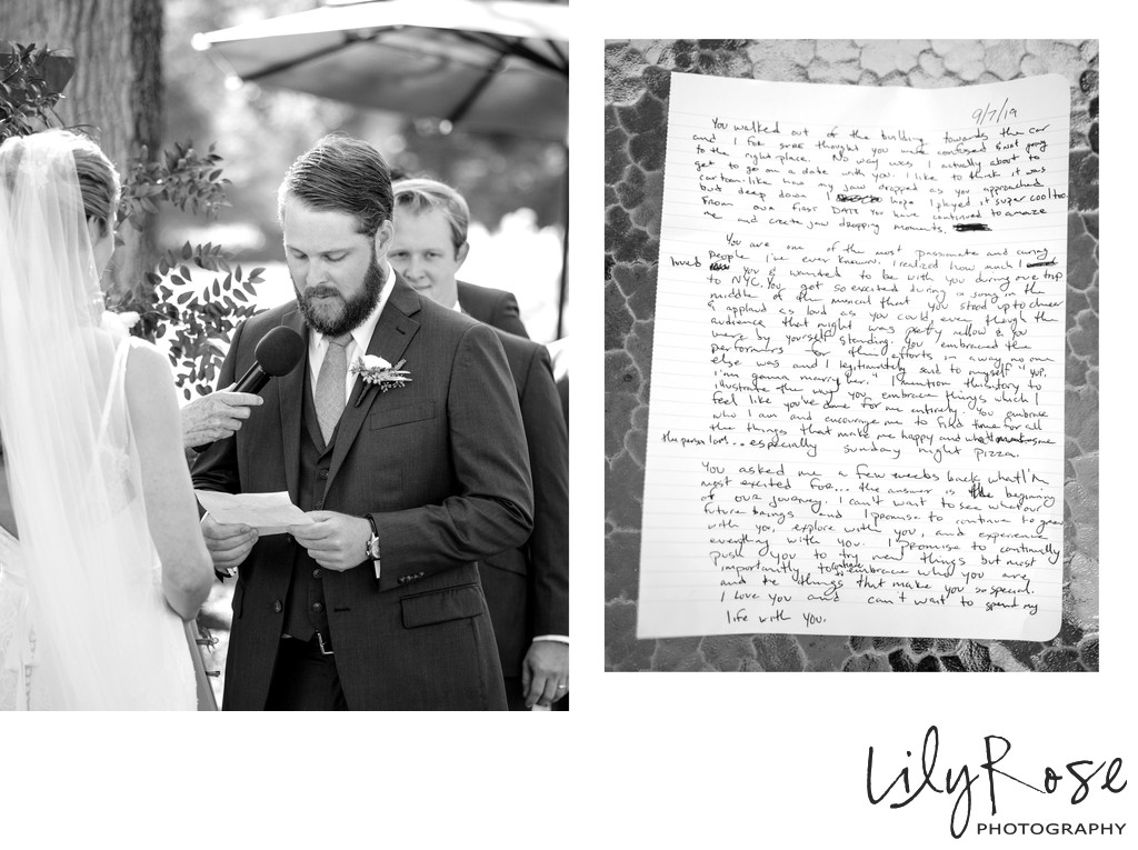 Wedding Vows Silverado Resort Photographers Napa