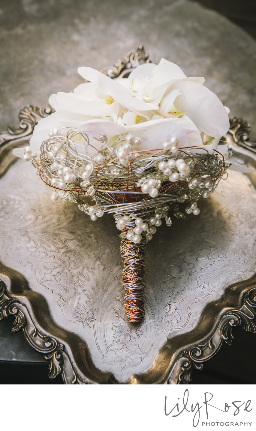Metal Accents Wedding Details