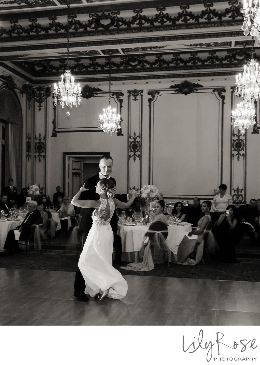 Bride and Groom First Dance Fairmont San Francisco