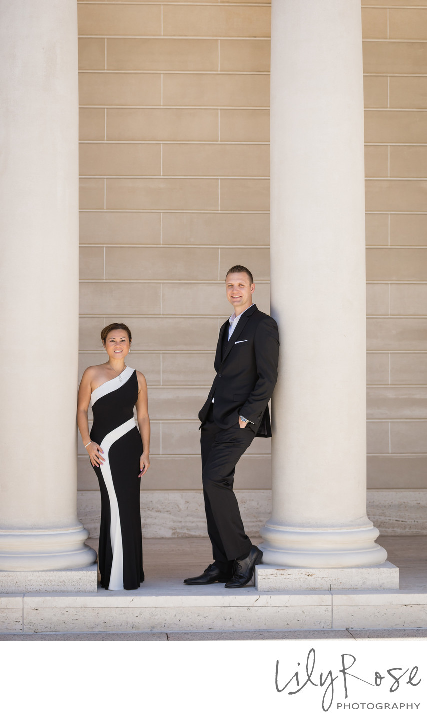 Elegant Couple at the Legion of Honor