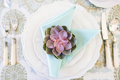 Succulent Wedding Place Setting
