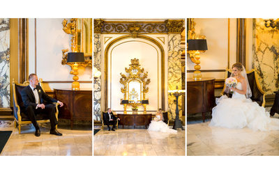 Bride and Groom Portraits Fairmont San Francisco