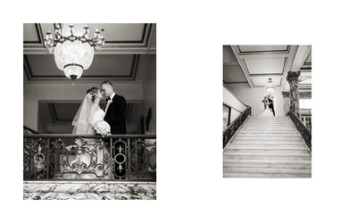 Portraits Bride and Groom Fairmont San Francisco