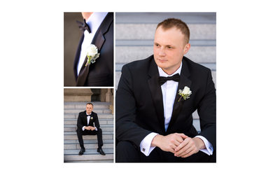 Groom on Church Stairs San Francisco