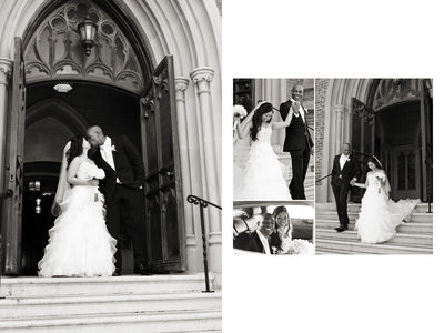 St. Patrick Church Steps Sonoma Wedding Photographer