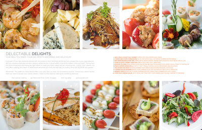 Magazine Page of Wedding Hors d'oeuvres