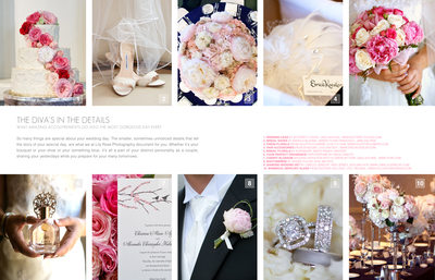 Wedding Day Details in a Photographer's Magazine