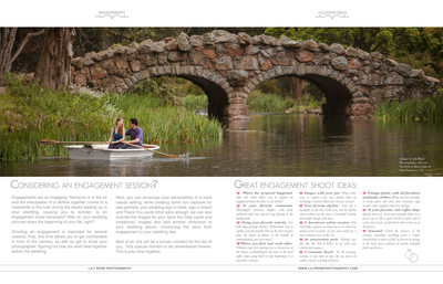 Award Winning Engagement Image in Magazine