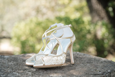 Wedding Shoes on a Warm Day in Sonoma