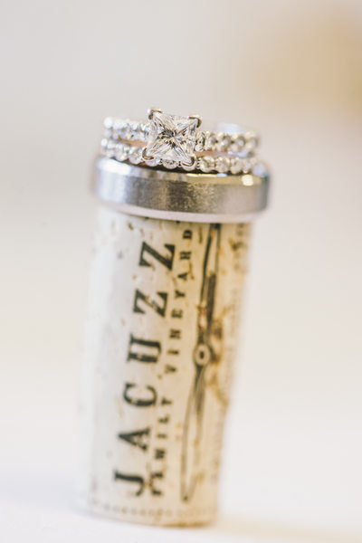 Wedding Rings at Jacuzzi Family Vineyards