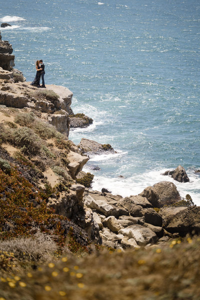 Breathtaking Engagement Couple California Coast