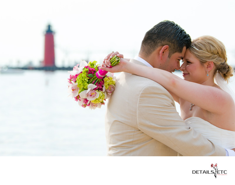Bride and Groom Photos at South Haven Pier