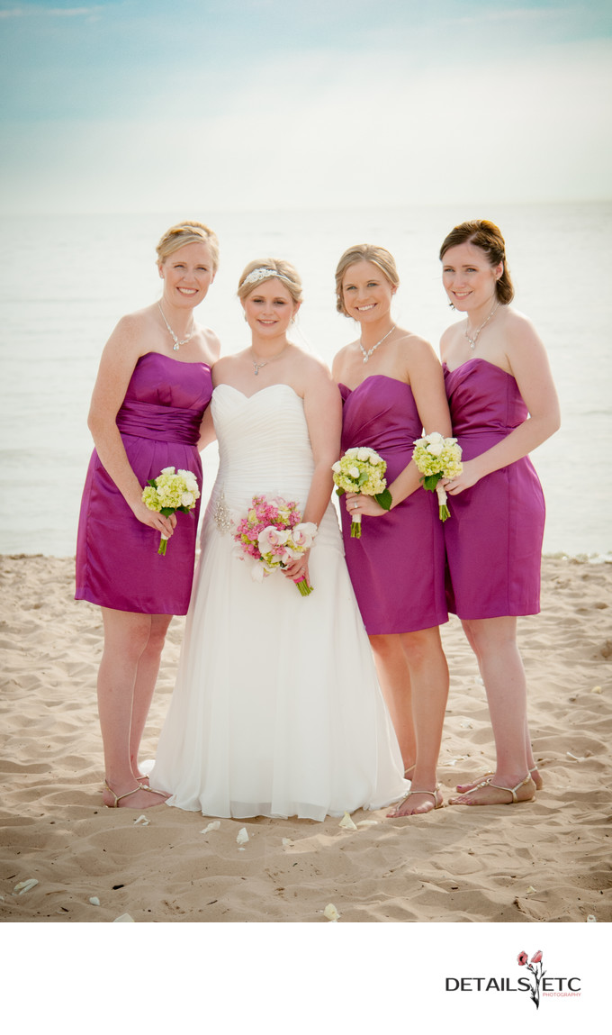 Bridesmaid Photos at Lake Michigan Beach