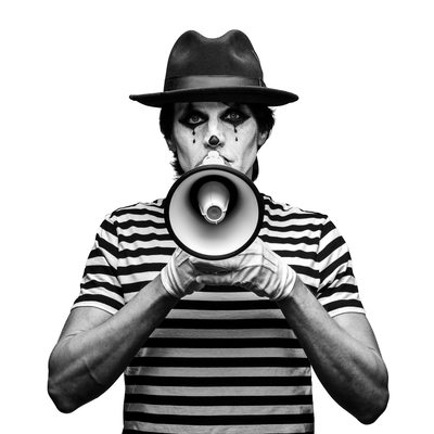 Black and White Mime Portrait