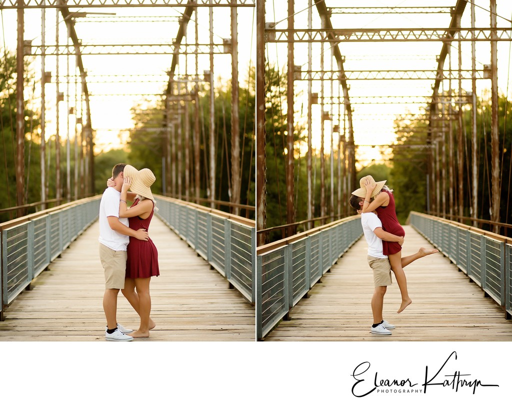 Amazing Engagement Photographer Cedar Rapids Iowa Sutliff Bridge