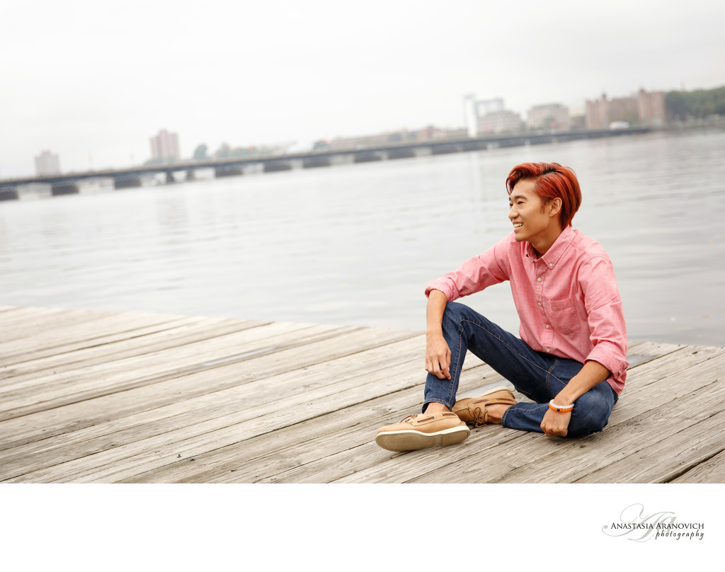 Senior Pictures at Charles River Esplanade