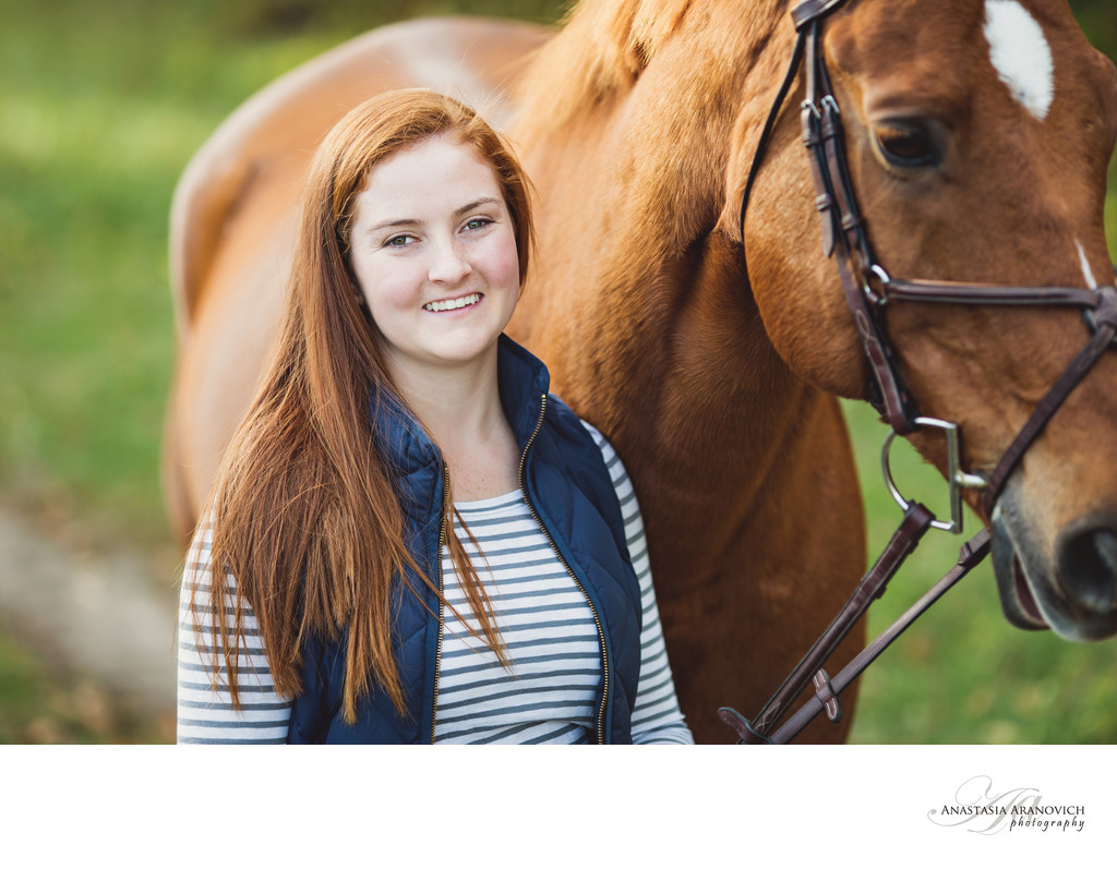 High School Portraits with Horse