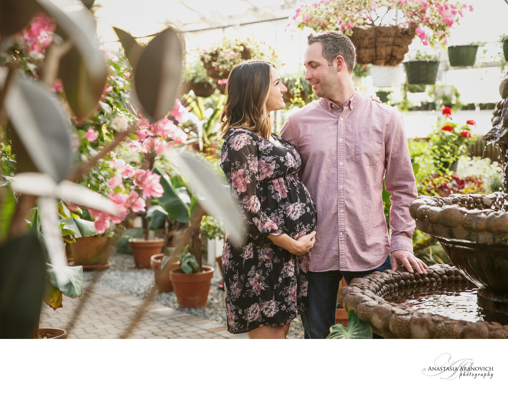 Maternity Photo Shoot with Flowers
