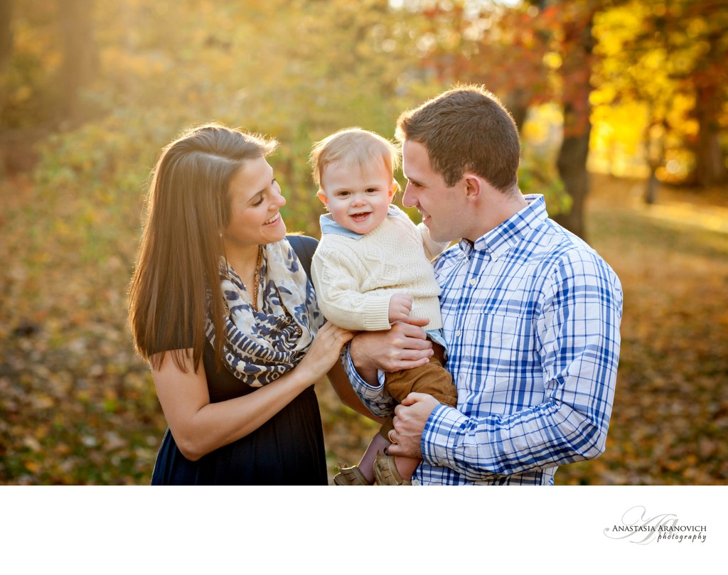 Fall family portraits in Boston