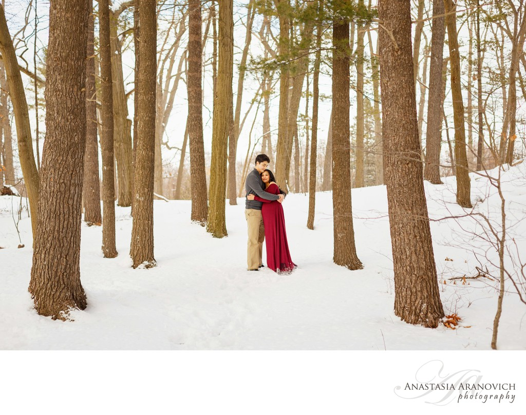 Wintery Maternity Session